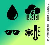 vector icon set about weather... | Shutterstock .eps vector #1085883032