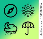 vector icon set about weather... | Shutterstock .eps vector #1085883056