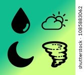 vector icon set about weather... | Shutterstock .eps vector #1085883062
