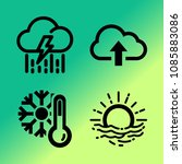 vector icon set about weather... | Shutterstock .eps vector #1085883086