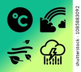 vector icon set about weather... | Shutterstock .eps vector #1085883092