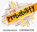 probability word cloud ... | Shutterstock . vector #1085884538