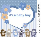 Greeting Card With The Birth O...