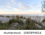 sand dunes and grass in soft... | Shutterstock . vector #1085894816