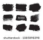 hand drawn scribble symbols... | Shutterstock .eps vector #1085898398