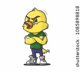 angry canary bird illustration... | Shutterstock .eps vector #1085898818