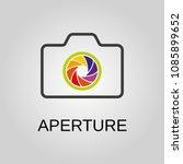 aperture icon. aperture symbol. ... | Shutterstock .eps vector #1085899652