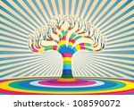 colorful tree vector...