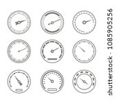 set of monochrome icons with... | Shutterstock .eps vector #1085905256
