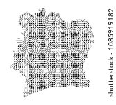 abstract schematic map of ivory ... | Shutterstock .eps vector #1085919182