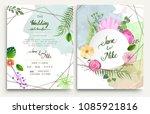 wedding invitation  invitation...   Shutterstock .eps vector #1085921816