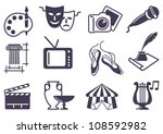 culture and art vector icons | Shutterstock .eps vector #108592982