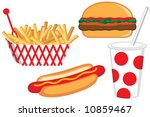 vector fast food collection | Shutterstock .eps vector #10859467