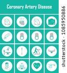 coronary artery heart disease... | Shutterstock .eps vector #1085950886