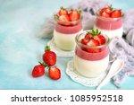 traditional italian dessert... | Shutterstock . vector #1085952518