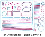 big set of real lines and... | Shutterstock .eps vector #1085959445