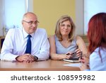 job interview  two senior... | Shutterstock . vector #108595982