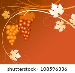 vine of grapes on a brown... | Shutterstock .eps vector #108596336