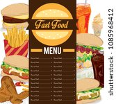 menu fast food template design...   Shutterstock .eps vector #1085968412