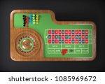 roulette desk. 3d rendering | Shutterstock . vector #1085969672