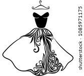 elegant vector silhouette of... | Shutterstock .eps vector #1085971175
