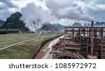 aerial view of alumina factory... | Shutterstock . vector #1085972972