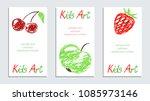 crayon like child s hand... | Shutterstock .eps vector #1085973146