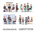 office workers at business... | Shutterstock .eps vector #1085975558