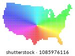spectral usa map. vector cell... | Shutterstock .eps vector #1085976116