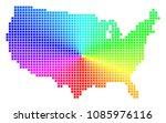 spectral usa map. vector cell... | Shutterstock .eps vector #1085976116