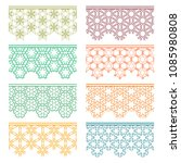 set of colorful seamless... | Shutterstock .eps vector #1085980808