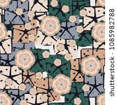 Seamless Pattern. Flowers On An ...