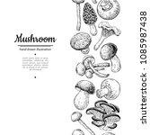 mushroom drawing vector... | Shutterstock .eps vector #1085987438