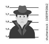 arrested criminal icon | Shutterstock .eps vector #1085992862