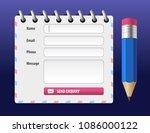 vector editable contact form... | Shutterstock .eps vector #1086000122