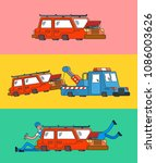 car repair set banner. car... | Shutterstock .eps vector #1086003626