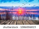 leisure and free time on the... | Shutterstock . vector #1086006815