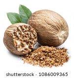 Dried Seeds Of Fragrant Nutmeg...