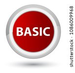 basic isolated on prime red... | Shutterstock . vector #1086009968