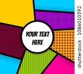 pop art comics book magazine... | Shutterstock . vector #1086010592
