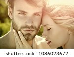 love and romance. relations of... | Shutterstock . vector #1086023672