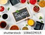 set of different sauces  ... | Shutterstock . vector #1086029015