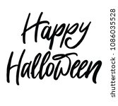 happy halloween vector... | Shutterstock .eps vector #1086035528