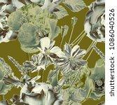 art vintage blurred monochrome...   Shutterstock . vector #1086040526