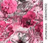 art vintage blurred monochrome...   Shutterstock . vector #1086040532