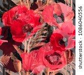 art vintage blurred monochrome...   Shutterstock . vector #1086040556