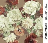 art vintage blurred monochrome... | Shutterstock . vector #1086040562