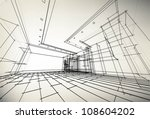 sketch project of my apartment | Shutterstock .eps vector #108604202