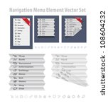folded menu element. vector...