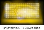 big led projection screen.... | Shutterstock .eps vector #1086055055